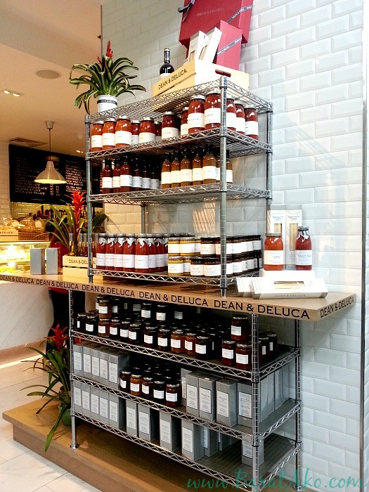 Dean and Deluca Jams Sauces Shelf