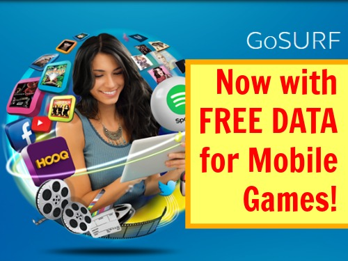 Globe GoSurf Now With Free Data For Mobile Games