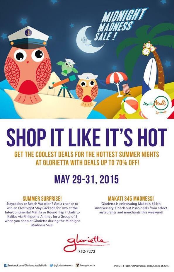 Glorietta Midnight Madness Sale May 29 31 2015