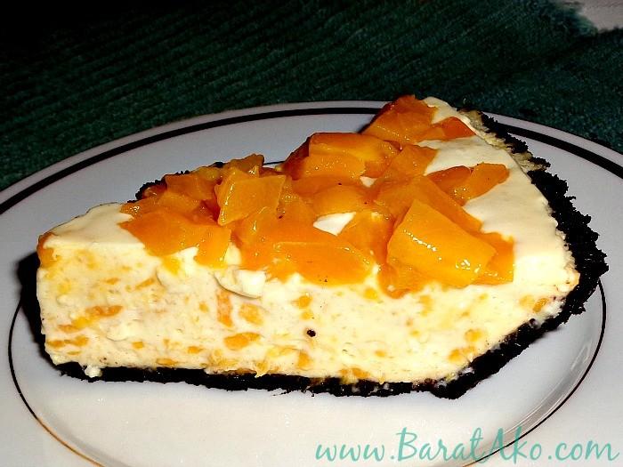 Lazy Recipe Easy No Bake Mango Cheesecake Sliced