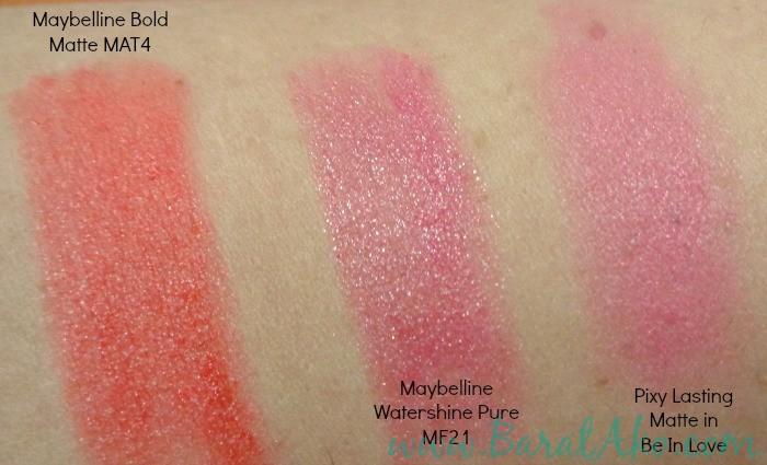 Maybelline Bold Matte Mat4 Watershine MF21 Pixy Lasting Matte Be In Love