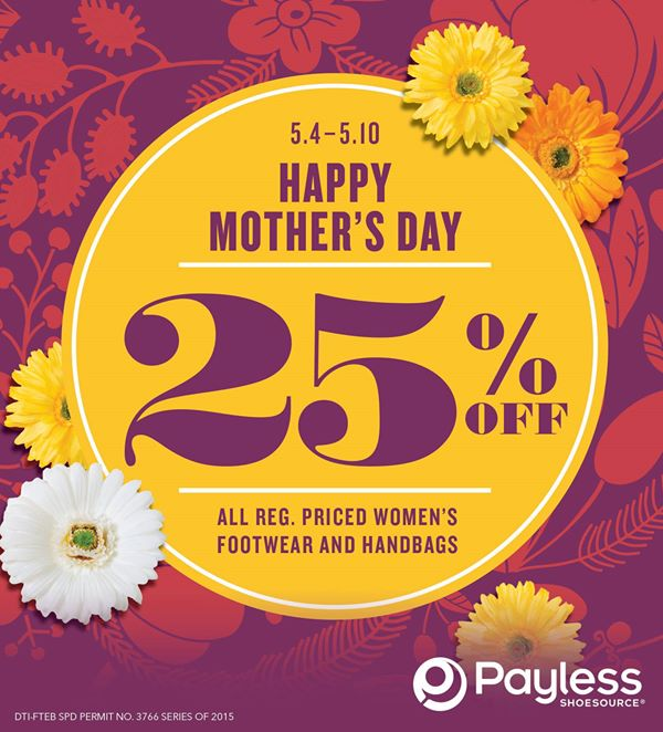 Payless Shoesource 25 OFF Mothers Day