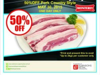 Robinsons Supermarket Monterey Pork Country Style Half Price May 30 Featured Image