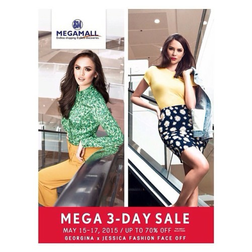 SM Megamall 3 Day Sale May 15 16 17 2015