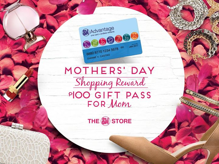 SM Mothers Day P100 Gift Pass P3000 Purchase
