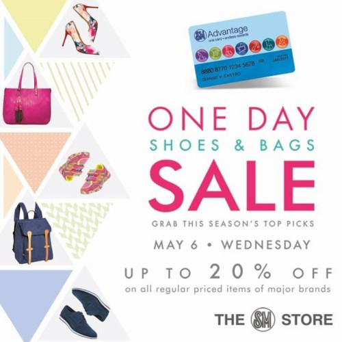 SM One Day Shoes Bags Sale May 6