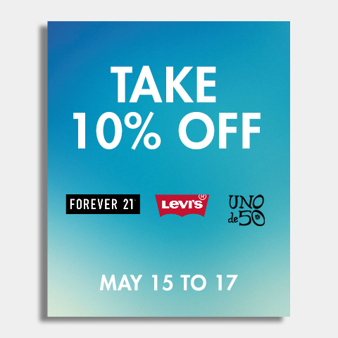 Take 10% OFF Forever21 Levis Uno May 15 16 17 2015 Sale