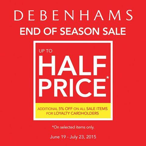Debenhams End of Season Sale June 2015