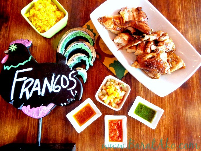 Frangos Portuguese Chicken with Rice and Sauces