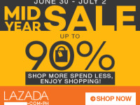 Lazada Mid Year Sale June 30 - July 2, 2015