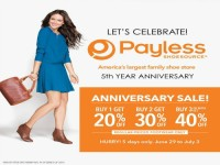 Payless 5th Anniversary Sale June 29 July 3 2015 Featured Image