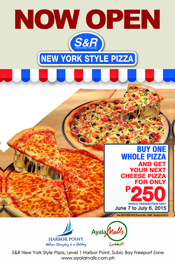 SnR New York Style Pizza Harbor Subic Buy 2nd Cheese Pizza for P250
