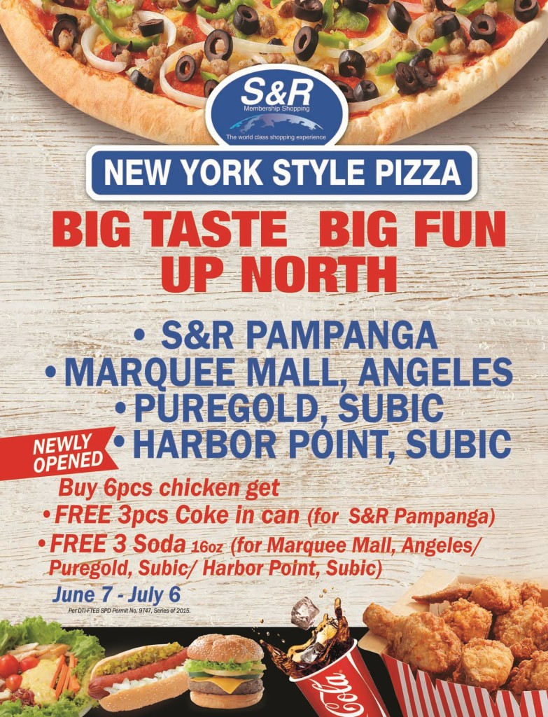Free S&R Pampanga Marquee Mall Angeles Puregold Subic Harbor Point Subic