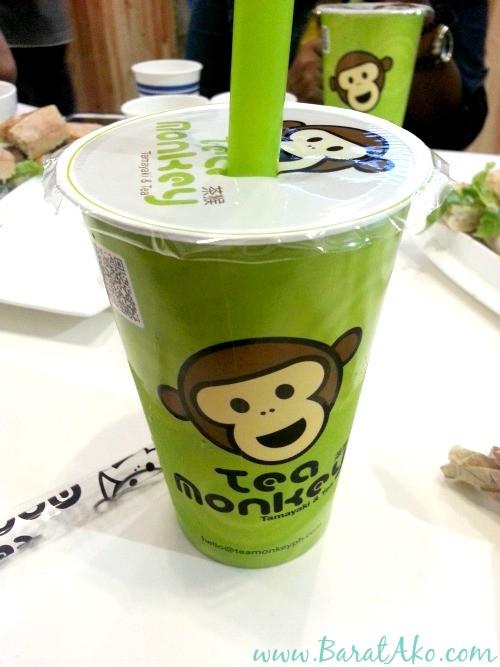 Tea Monkey Drink Cup Straw
