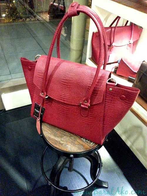 The Tannery Manila Red Satchel Bag