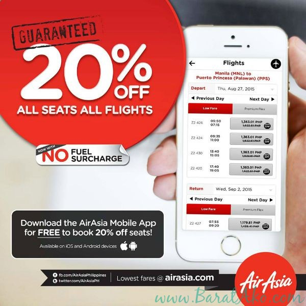 Air Asia 20 OFF All Seats