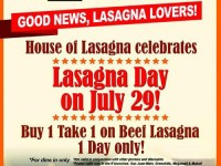 House of Lasagna Buy 1 Take 1 July 29 Featured Image