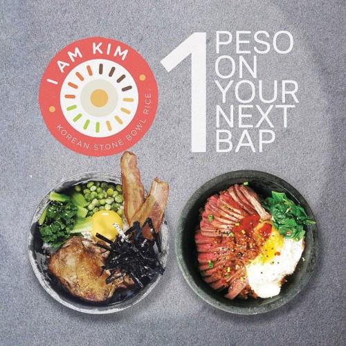 I Am Kim P1 Piso One Peso Bibimbap Promo