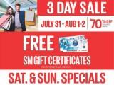 SM 3-Day Sale – Sta. Mesa, Sucat, Masinag, Tarlac, Calamba, GenSan