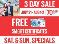 SM Sta Mesa 3 Day Sale Free P200 Gift Certificates Featured Image