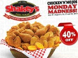 Shakey's Chicken 'N' Mojos Monday Madness Starts Today!