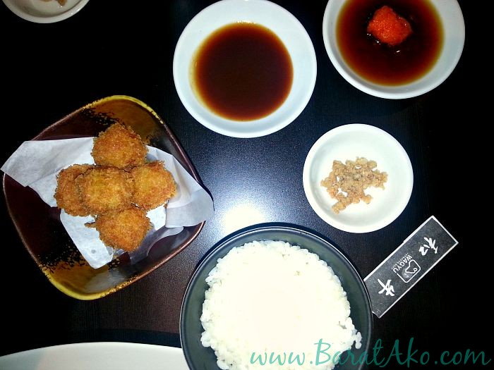 Wagyu Japanese Beef Restaurant Rice Cheese Croquette Sauces