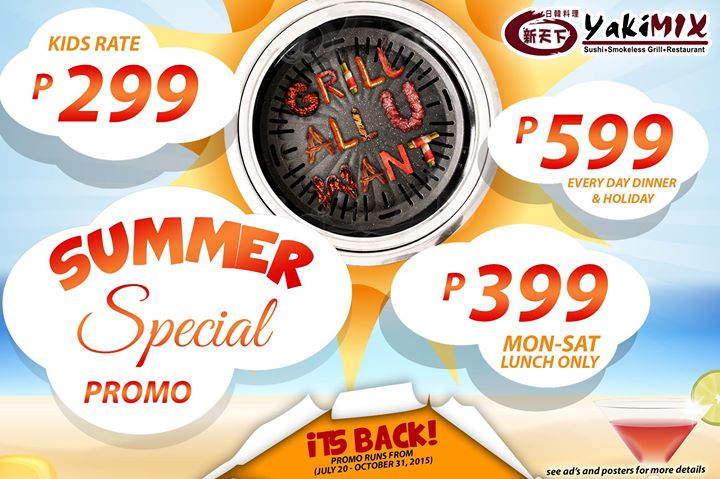 Yakimix Summer Special Promo is Back July 2015 P399 P599