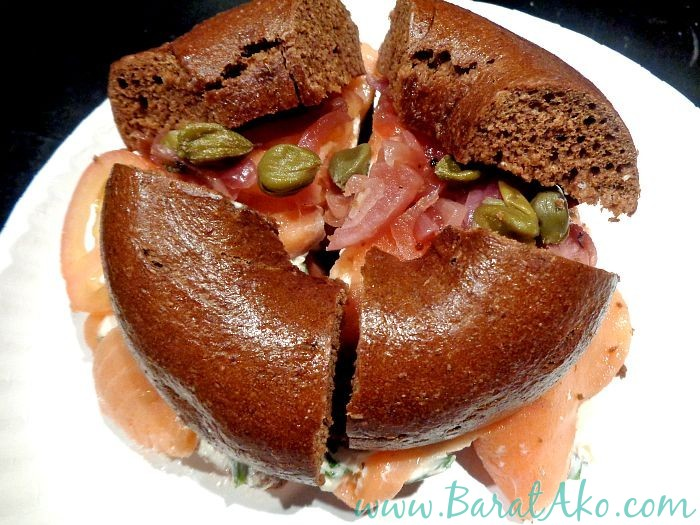 Tuscany Food Crawl LES Bagels Addiction Lox Scallion Cream Cheese Capers Onions