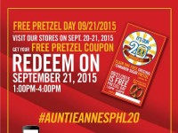 Auntie Anne Free Pretzel Day 20th Anniversary Featured Image