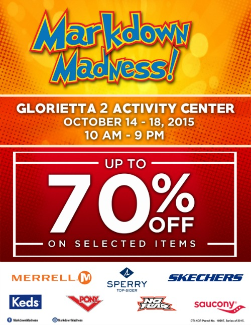 Glorietta MARKDOWN Madness Oct 14 18 2015