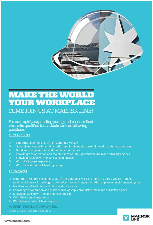 Maersk Job Description
