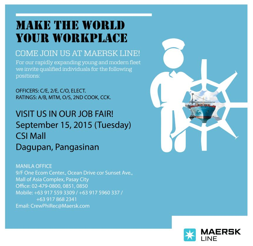 Maersk Job Fair Social Media Photo - Dagupan