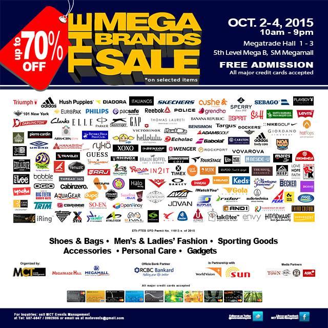 Mega Brands Sale Oct 2 to 4 2015 Megatrade Hall