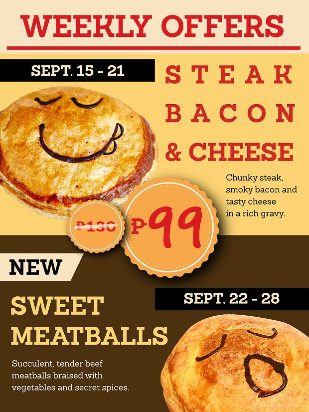 Pie Face Weekly Offer Price Drop P99