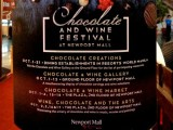 Chocolate & Wine Festival at Newport Mall (Oct. 1-31) + Chocolate Buffet!
