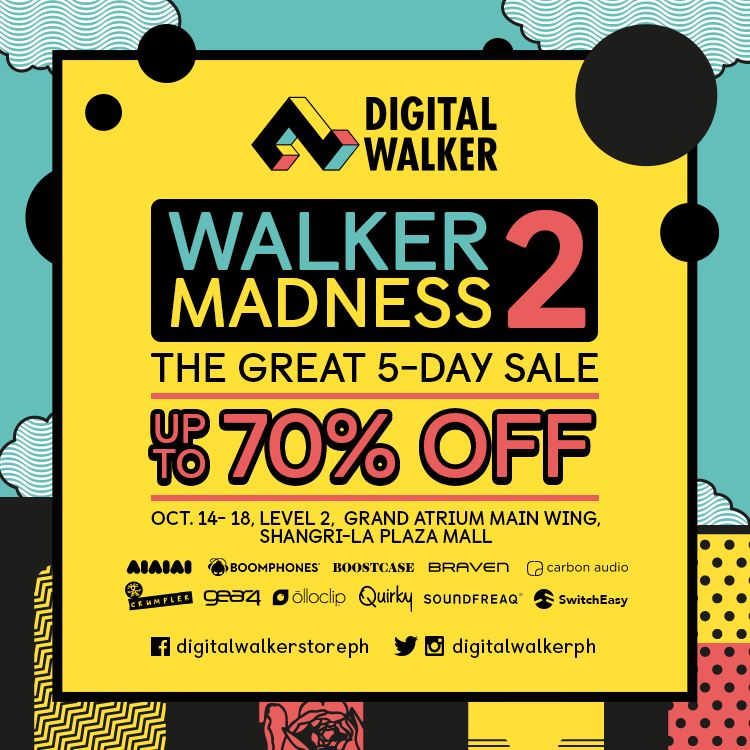 Digital Walker Madness Sale Up to 70% OFF October 14 - 18, 2015