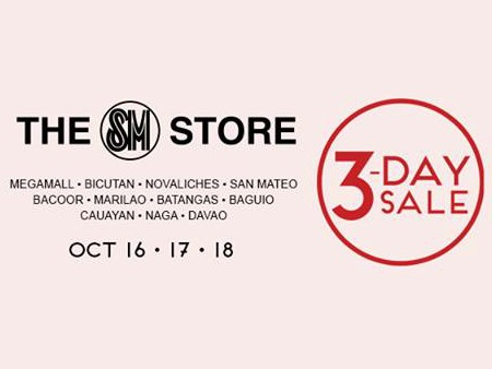 SM 3 Day Sale Oct 15 to 18