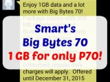 Cheapest Legit Internet 1GB for P70 – Smart Big Bytes 70