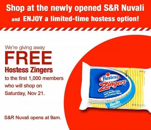SnR Nuvali Free Hostess Zingers