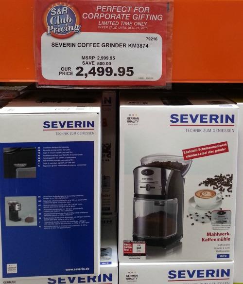 SnR Nuvali Severin Coffee Grinder Burr