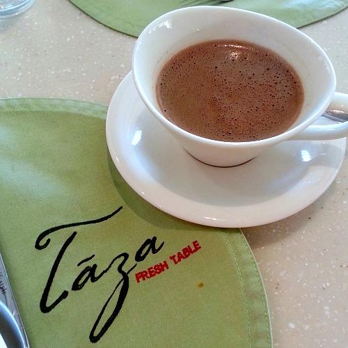 Taal Vista Hotel Taza Fresh Table Buffet Breakfast Alfonso Hot Chocolate