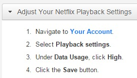 Netflix Philippines Change Streaming Quality HD