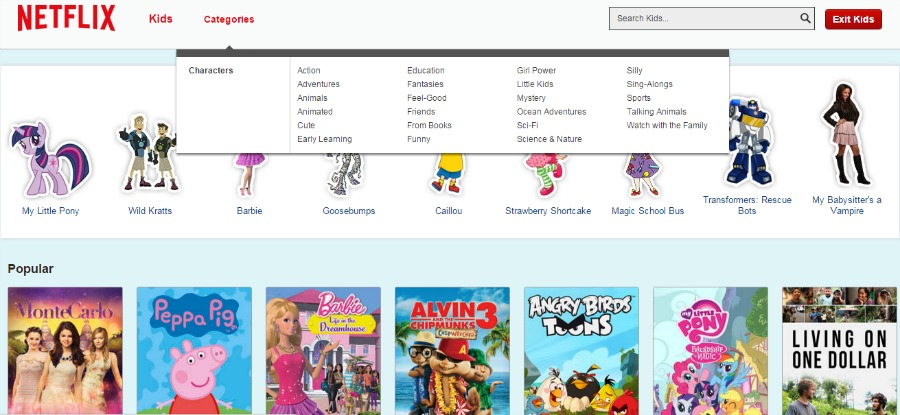 Netflix Philippines Kids Categories