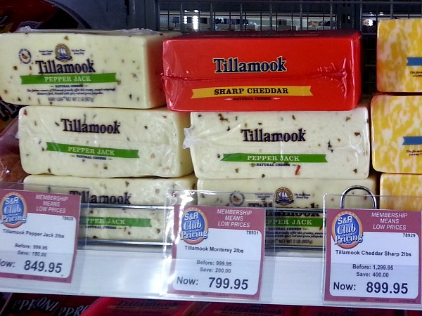 SnR Jan 2016 Tillamook Sharp Cheddar Pepper Jack Monterey Sale
