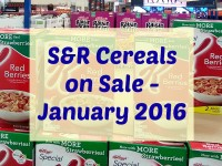 SnR January 2016 Cereals on Sale Featured Image