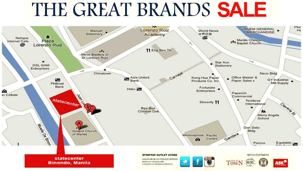 Striptop Outlet Store Great Brands Sale Jan 29 Feb 5 2016 Location Map