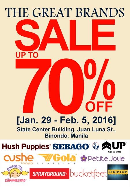 Striptop Outlet Store Great Brands Sale Jan 29 Feb 5 2016 Poster