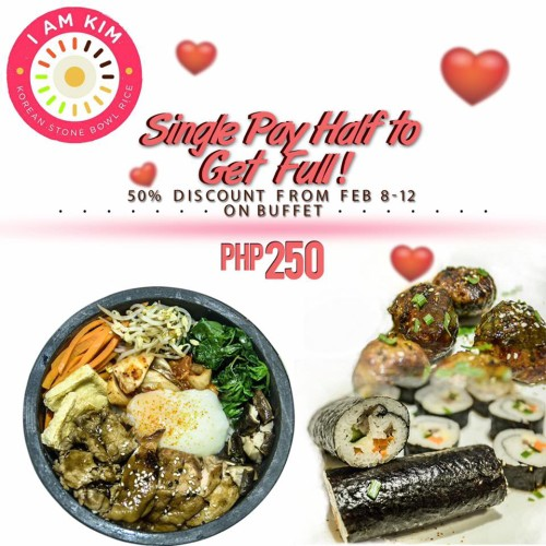I Am Kim Single Pay Half Korean Buffet Feb 8 - 12