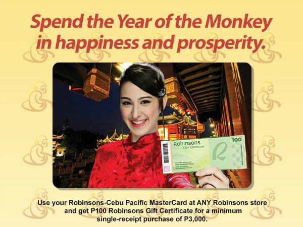 Get P100 GC for P3,000 Purchase w/ Robinsons Cebu Pacific Metrobank Card