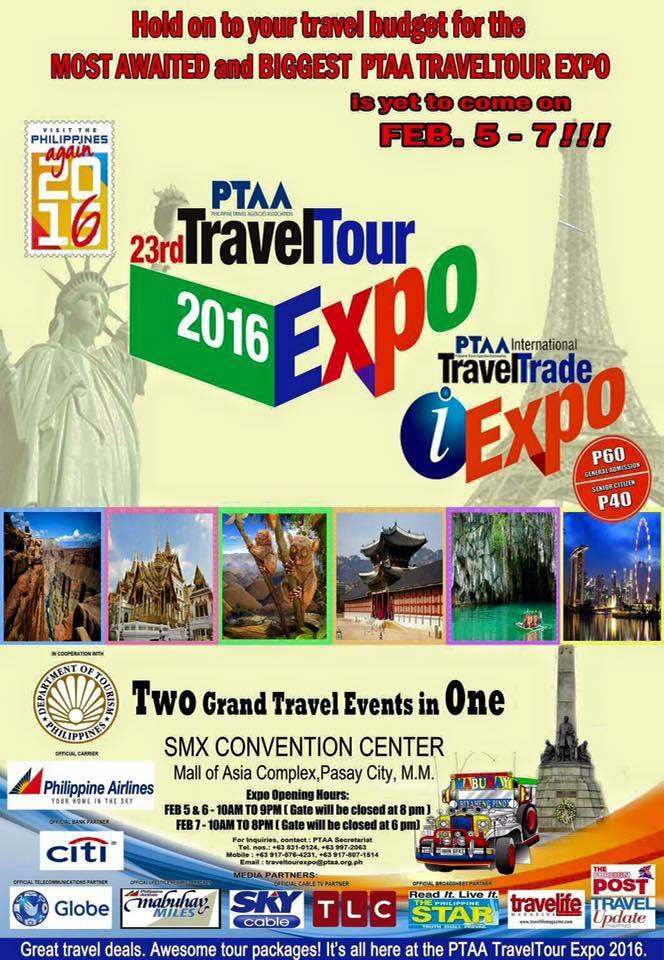 Philippine Travel Tour Expo 2016 Poster